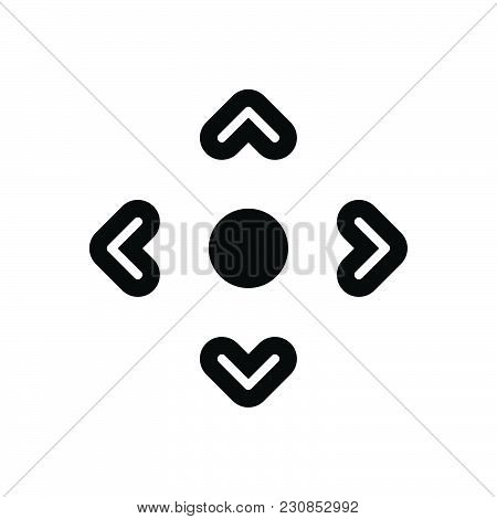 Gamepad Arrows Vector Icon On White Background. Gamepad Arrows Modern Icon For Graphic And Web Desig