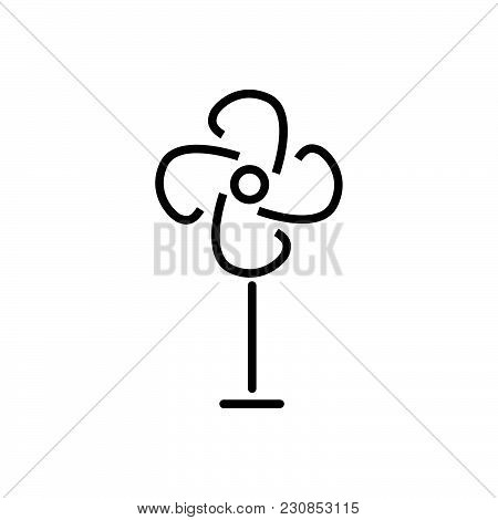 Fan Outlined Symbol Of Air Colooler, Fan Vector Icon, Fan Image Jpg