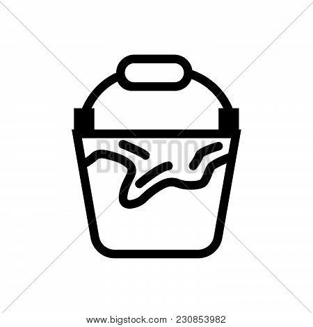 Bucket, Bucketful Outlined Symbol, Buckeet Vector Icon, Bucket Image Jpg, Bucket Isolated Vector