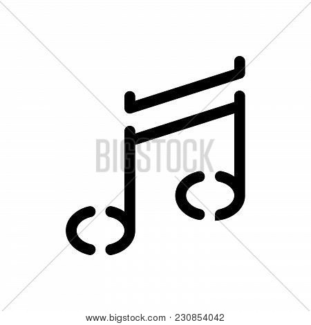 Music Note Vector Icon On White Background. Music Note Modern Icon For Graphic And Web Design. Music