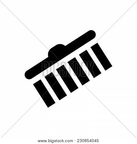 Brush Vector Icon On White Background. Brush Modern Icon For Graphic And Web Design. Brush Icon Sign
