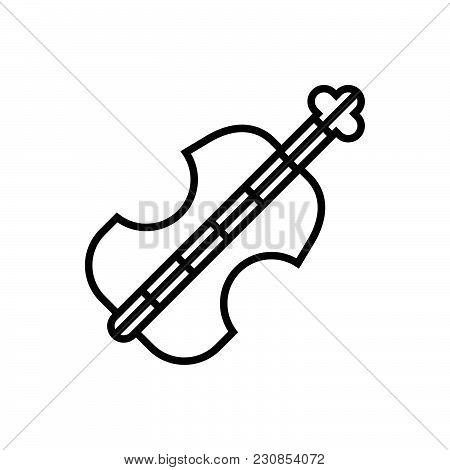 Violoncello Outlined Symbol Of Viola Icon, Viola Vector Icon, Viola Image Jpg