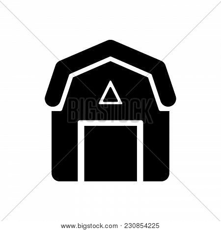 Barn Vector Icon On White Background. Barn Modern Icon For Graphic And Web Design. Barn Icon Sign Fo