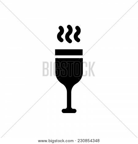 Hot Wine Vector Icon On White Background. Hot Wine Modern Icon For Graphic And Web Design. Hot Wine