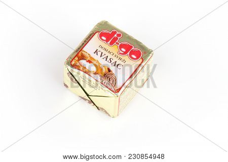 ZAGREB, CROATIA - MARCH 02, 2018: Podravka Digo Yeast 40g is a legendary product of Croatian company Kvasac and was very popular for several decades. It's production was stopped in February 2018