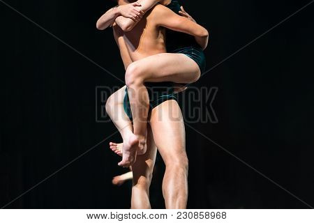 A Show Of Ballet Closeup On Stage In Theater