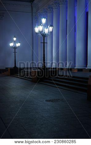 Vintage Lamp-post. Retro. Street lamp