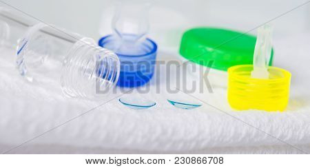 Set Of Objects For A Good Human Eye View, On A White Background Towels