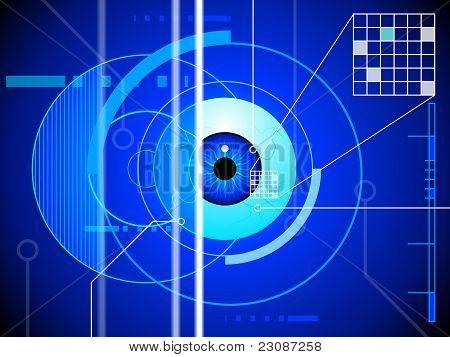 Retina scan background