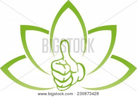 Leaves, Plant And Hand, Vegan And Nature Logo