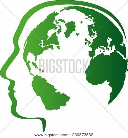 Person, Head And Earth, Globe And World Globe, People Logo