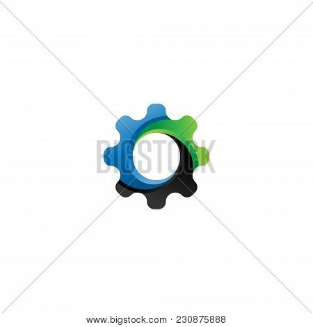 Gear Icon Vector. Logo Element Illustration. Cogwheel Symbol Design. Can Be Used As Icon For Web And