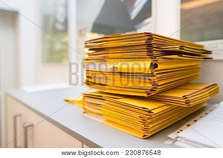 Pack Of Folders With Documents In The Office