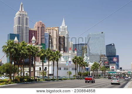 Las Vegas, Usa - May 19, 2012. Excalibur Hotel And New York New York Hotel And Casino On Las Vegas B