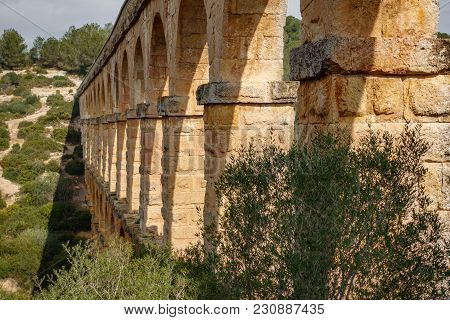 The Ferreres Aqueduct Profile, Also Known As Devil's Bridge