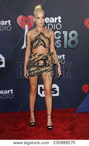 Halsey at the 2018 iHeartRadio Music Awards held at the Forum in Inglewood, USA on March 11, 2018.