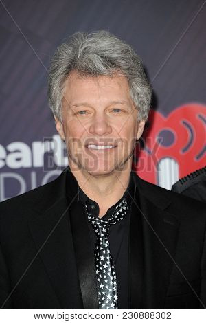 Jon Bon Jovi at the 2018 iHeartRadio Music Awards held at the Forum in Inglewood, USA on March 11, 2018.