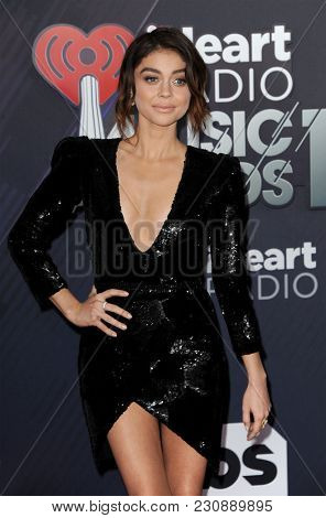 Sarah Hyland at the 2018 iHeartRadio Music Awards held at the Forum in Inglewood, USA on March 11, 2018.
