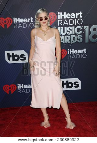 Anne-Marie at the 2018 iHeartRadio Music Awards held at the Forum in Inglewood, USA on March 11, 2018.