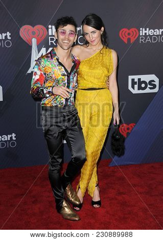MAX and Emily Schneider at the 2018 iHeartRadio Music Awards held at the Forum in Inglewood, USA on March 11, 2018.