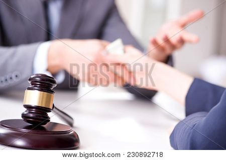 Lawyer being offered bribe for his services