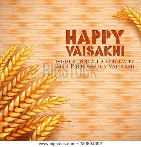 Illustration Of Happy Vaisakhi Punjabi Spring Harvest Festival Of Sikh Celebration Background