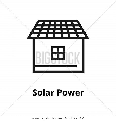 Solar Power Thin Line Icon. Icon For User Interface And Web