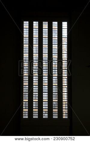 London, Uk - April 22, 2017: Windows In Tate Modern In The Backlight