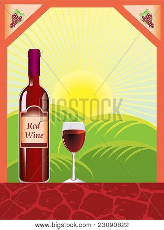 Red wine composition vector
