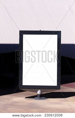 Mock Up. Outdoor Advertising, Blank Billboard Outdoors, Public Information Board In The City