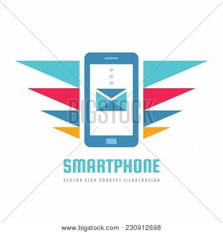 Mobile Phone Vector Business Logo Concept Illustration. Smartphone Creative Sign. Modern Electronic