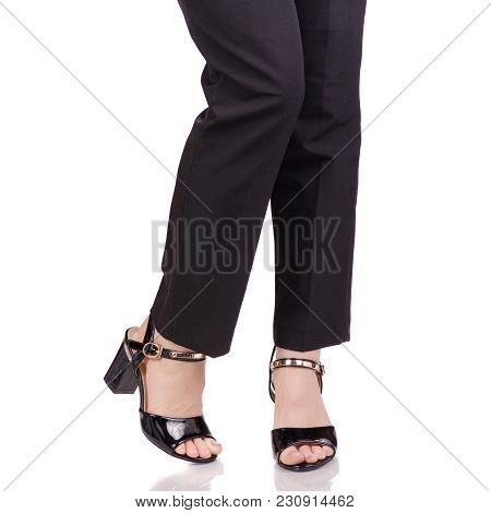 Female Legs In Classic Black Pants Black Lacquer Shoes Classic Style Fashion Beauty Shop Buy On Whit