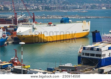 Photo Of Cargo  Ferry End  Ships In Port