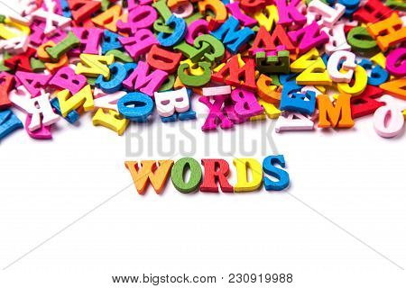 Words Of Color Letters Of The English Alphabet