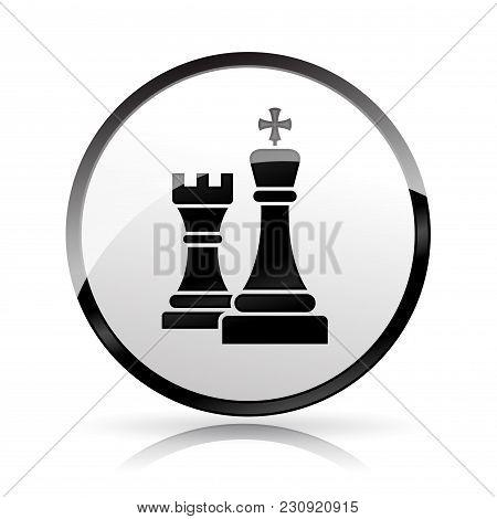 Illustration Of Chess Icon On White Background