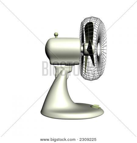 Fan Side3D Render Of The Plastic Electrical Fan