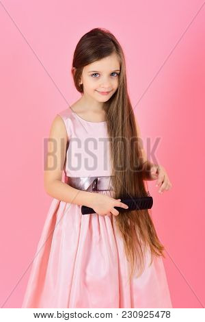 Beauty And Fashion, Childhood, Healthy Hair. Hairdresser And Shampoo. Hair Salon, Barber, Haircare,