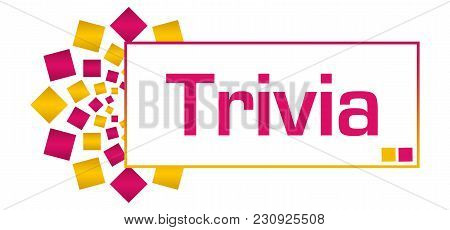 Trivia Text Written Over Pink Gold Background.