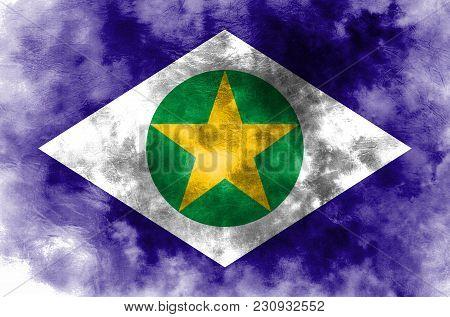 Mato Grosso Grunge Flag, States Of Brazil, Mato Grosso Flag