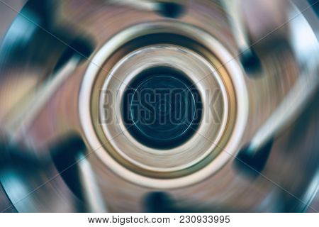 Rotating Metal Cooler Close-up. The Brutal Mechanism. Image For The Background. Vintage Mechanism. R