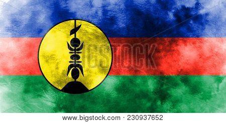 Flnks Grunge Flag, New Caledonia, Flnks Flag