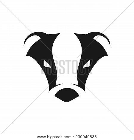 Abstract Cool Badger Head Symbol Logo Vector Graphic Design