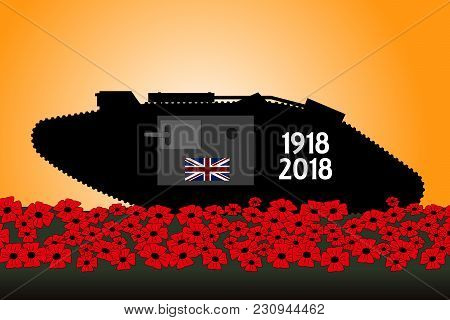 British Tank, Commemoration Of The Centenary Of The Great War 1918