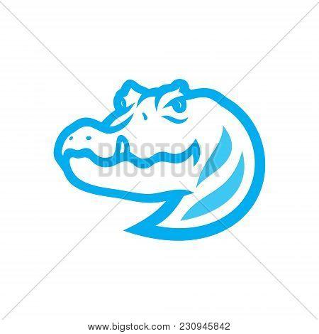 Croc Head Symbol Isolated On White Background