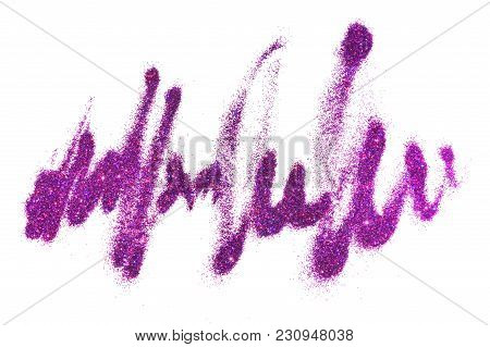 Textured Background With Purple Glitter Sparkle On White Like Unreadable Text