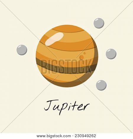 Illustration of jupiter planet