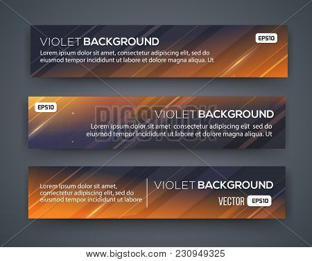 Abstract Banner Design. Vector. Disco Nighclub Disco Dj. Cosmic Hud Sci-fi Interface. Science News S
