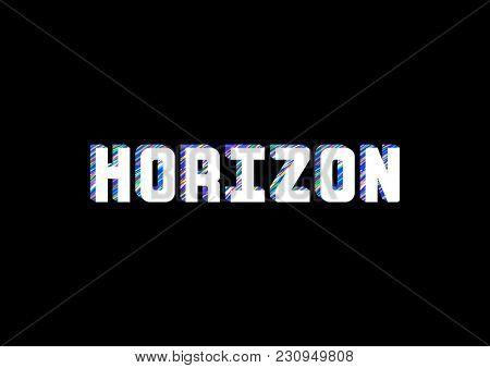 'Horizon' typography Illustration