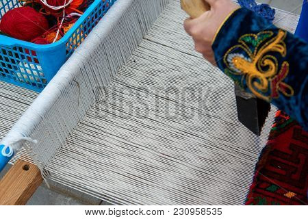 Carpet Weaving. A Carpet Is A Textile Floor Covering Typically Consisting Of An Upper Layer Of Pile