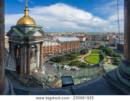 Saint Isaac's Square In Saint Petersburg
